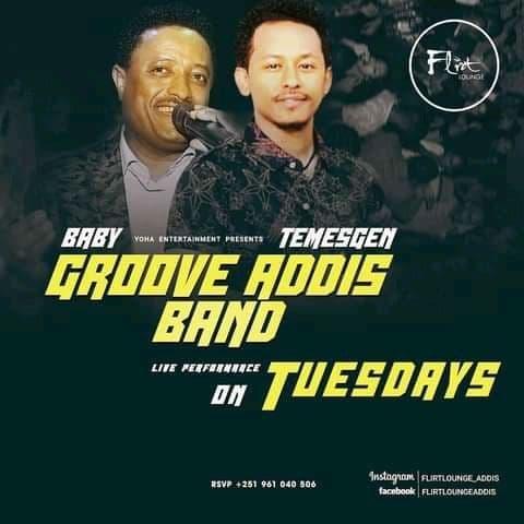 Groove Addis band on Tuesdays